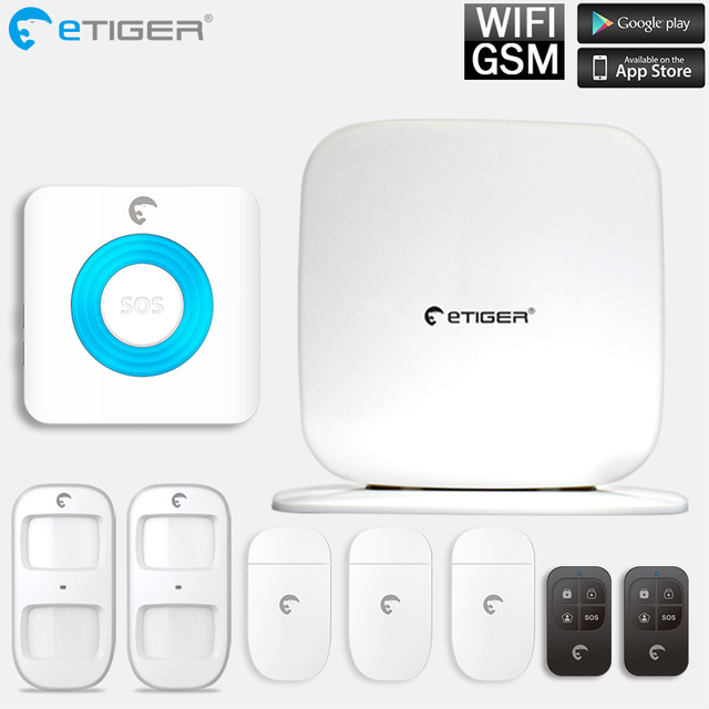 Best Price eTIGER SecualboxV2  wireless Home Security GSM WIFI Alarm System IOS Android APP Remote Control GSM alarm