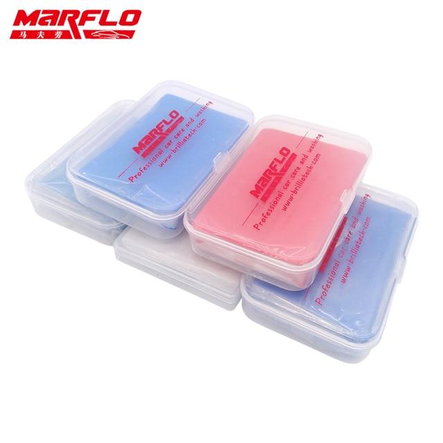 Marflo洗車ディテールマジック粘土バー 100 グラムファインミディアム · キンググレードヘビー 80 グラム新piont粘土バー強力な除去汚染物質