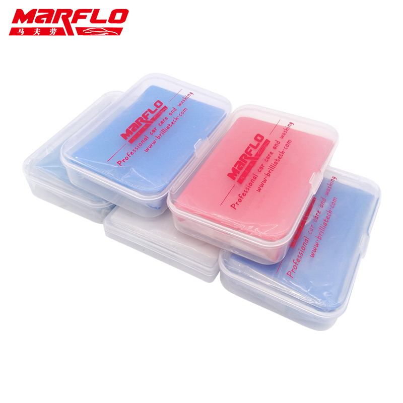 Marflo Car Wash Detailing Magic Clay Bar 100g Fine Medium King Grade Heavy 80g New Piont Clay Bar Powerful Removal Contaminants