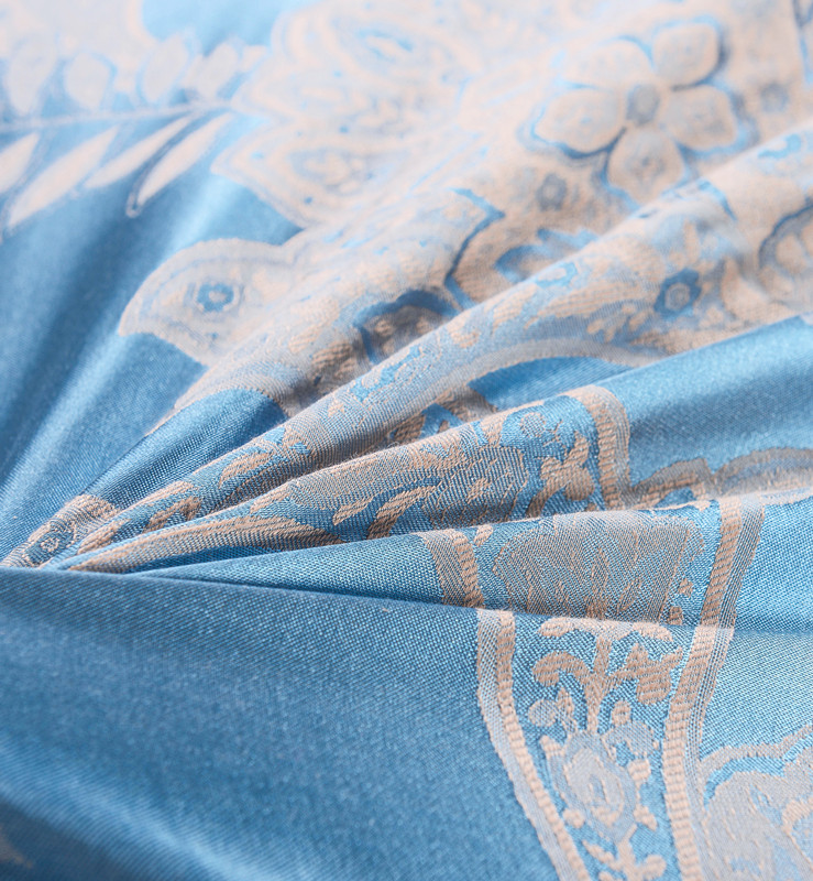 4 Uds de seda satén de algodón de lujo conjunto de ropa de cama de jacquard 22 estilos funda nórdica hoja de cama fundas de almohada reina rey tamaño de ropa de cama - 2