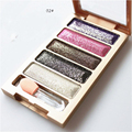New 6 colors diamond bright colorful eye shadow palette super flash paleta de maquiagem Glitter eyeshadow with brush