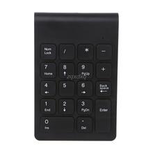 Portable 2.4G Wireless Digital Keyboard USB Number Pad 18 Keys Numeric Keypad Nov12 Drop ship