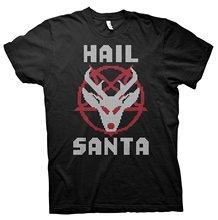 Gildan mens tshirt HAIL SANTA-Funny Atheist Anti-Christian Christmas Holiday-T-SHIRT