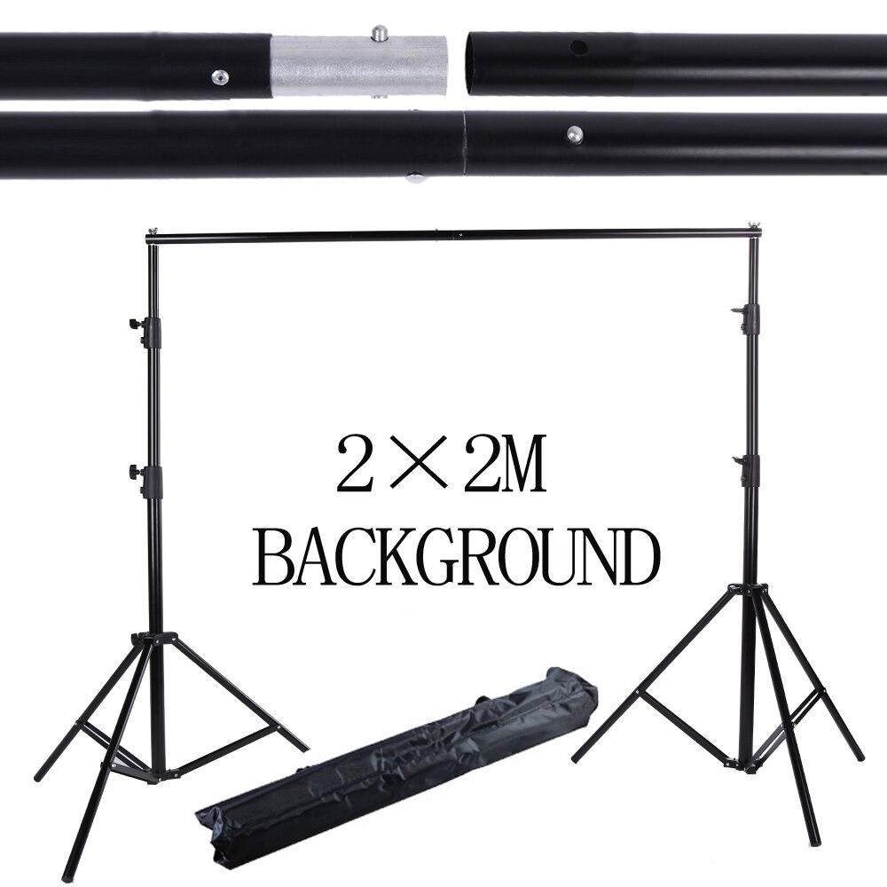 Arrière-plan de Studio de Photo 2*2 M Support de système de Support de photographie professionnel studio avec sac de transport