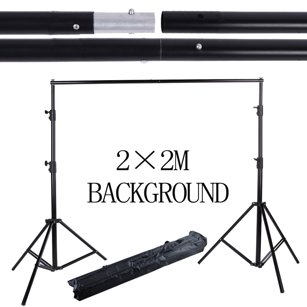 Free Tax to Russia 2*2M 6.5FT*6.5FT Professinal photography background Backdrops Support System Stands studio with carry bag ashanks pro photography studio photo backdrops frame background support system 2m x 2 4m stands for photo shoot carry bag