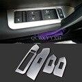 Coche Que Labra la Puerta Interior de Acero Inoxidable 4 unids/set Elevalunas Interruptor Panel de Cubierta Para Chevrolet Captiva Accesorios de Decoración
