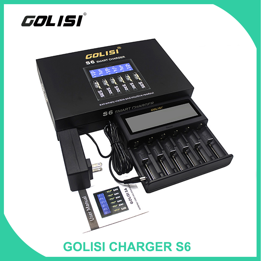 Original Golisi S6 Battery Charger Smart Battery Charger 0 5A 1A 2A LCD Rechargeable Ni mh