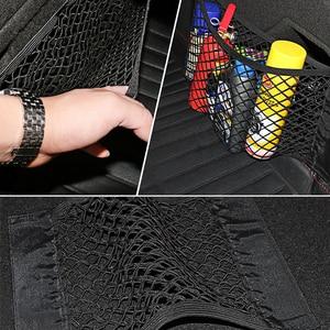 Image 5 - Borsa per Organizer per Auto con bagagliaio a rete 40/50/60/80*25CM maglia per bagagliaio portapacchi adesivo tascabile organizzatore automatico In Nylon nel bagagliaio