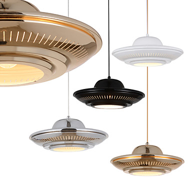 Fashion Iron Art UFO Droplight Modern LED Pendant Light Fixtures For Living Dining Room Bar Hanging Lamp Indoor Lighting 40cm acrylic round hanging modern led pendant light lamp for dining living room lighting lustres de sala teto