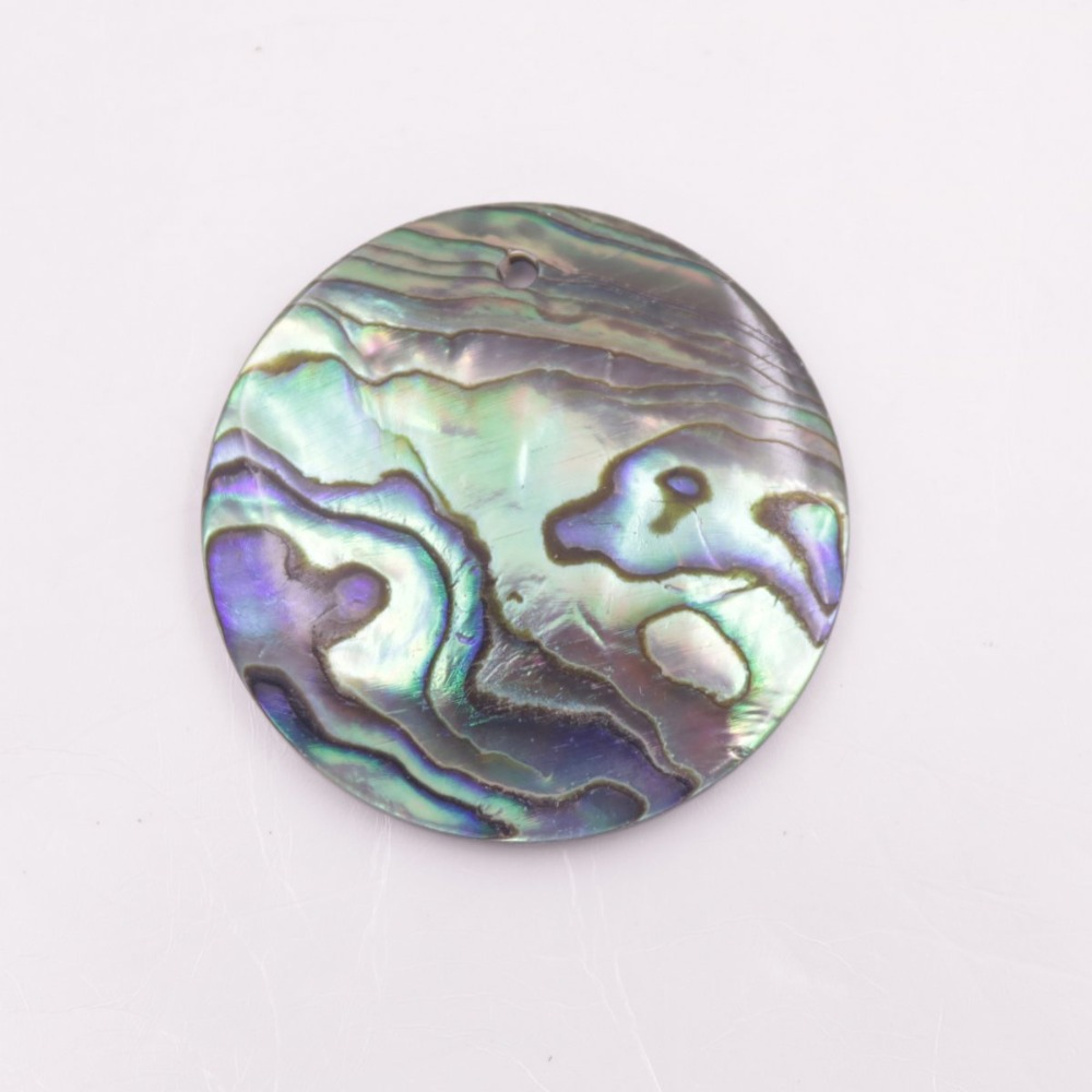 Купить с кэшбэком Natural Green Abalone Coin Shell Top Hole For Pendant Earring 10mm-30mm Choose