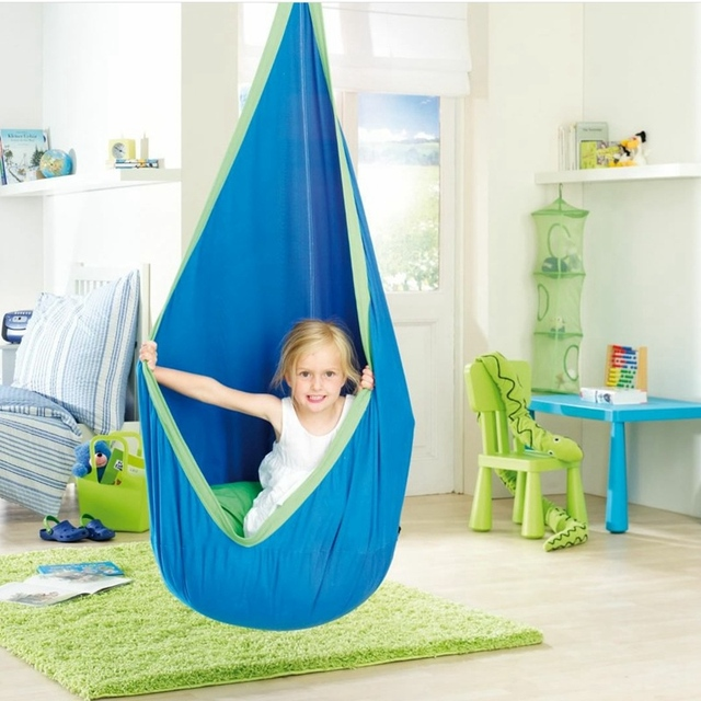 Soft Cotton Children Room Playing Swings Baby Jumpers Kid Hammock Hanging Bed Inflatable Cushion Mat Room Decor Photography Prop