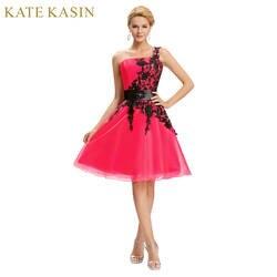 Новое поступление 2017 года одно плечо Элегантный Выпускные платья белого и синего цвета красное домашнее платье Короткие Выпускной бальное