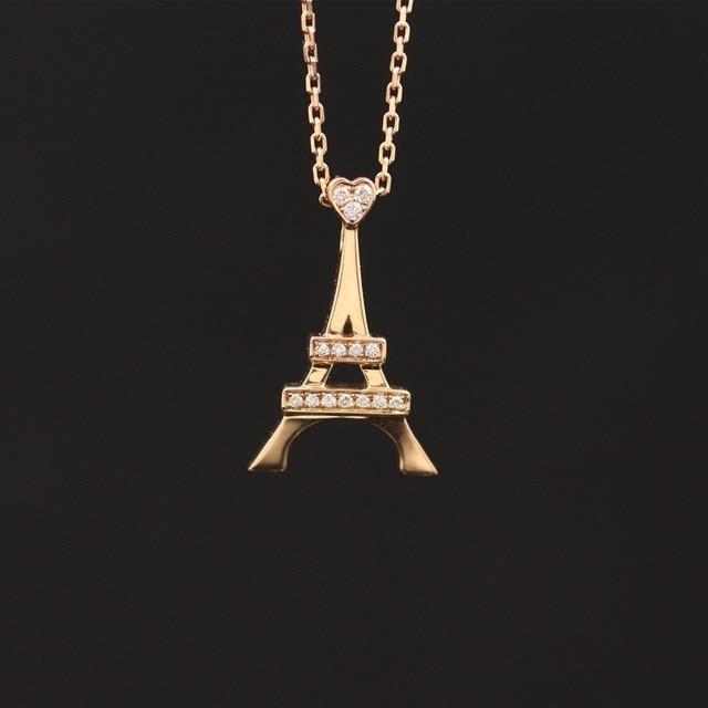 LASAMERO Halo 0.057CT 18k Gold Round Cut Square Center Pave Set Natural Diamond Pendant Necklace Chain Women Fine Jewelry 1