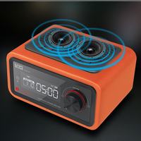 Wireless bluetooth wooden speakers radio cassette player portable multi media Mini alarm clock sound subwoofer Cortical package
