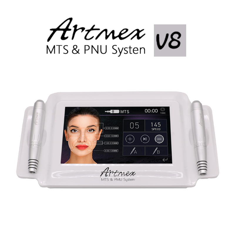2018 Permanent Makeup Tattoo Machine Eyebrow Lip Rotary Pen Artmex MTS&PMU System V8 professional permanent makeup rotary tattoo machine for eyebrow