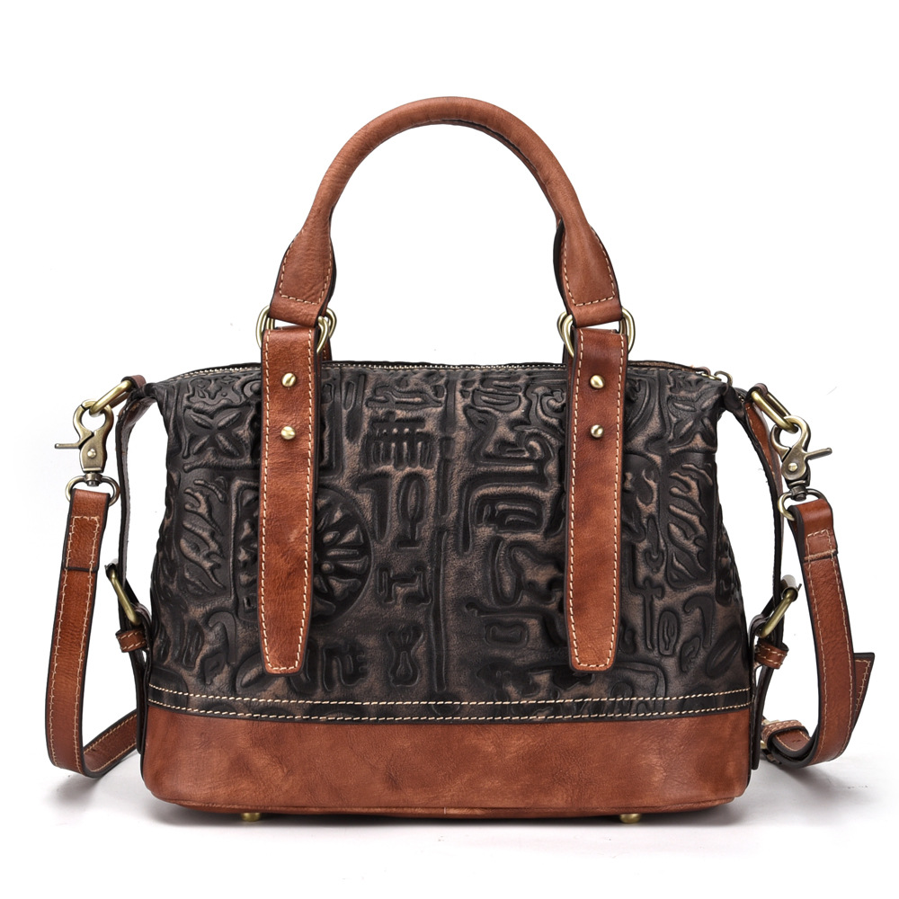 Women Casual Tote Bag Female Handbag Large Big Shoulder Message Bag for Women Tote Ladies Vintage Genuine Leather Crossbody Bag women casual tote genuine leather handbag bag fashion vintage large shopping bag designer crossbody bags big shoulder bag female