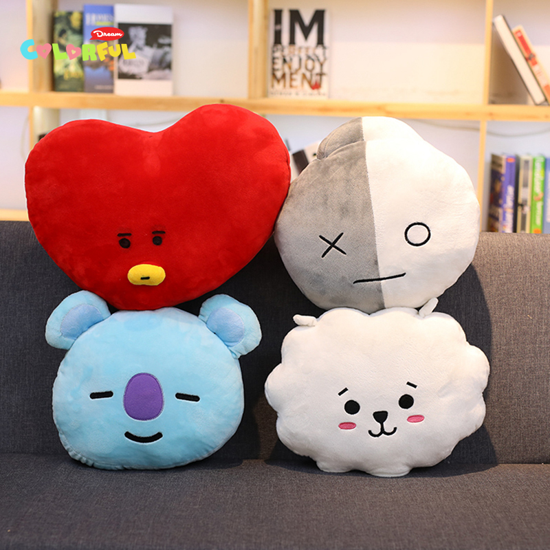 Novelty & Special Use New Kpop Bangtan Boys Bts Bt21 Vapp Same Pillow Plush Cushion Warm Bolster Q Back Soft Stuffed Doll 25 Cm Tata Cooky Chimmy Strong Packing Costume Props