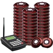Singcallコースターページングシステム、無線ページングキューイングシステムレストランコールポケベル、1トランスミッタで30コースターポケベル