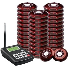 Singcall coaster pagingssysteem draadloze paging wachtrijsysteem restaurant call pagers, 1 zender met 30 coaster pagers