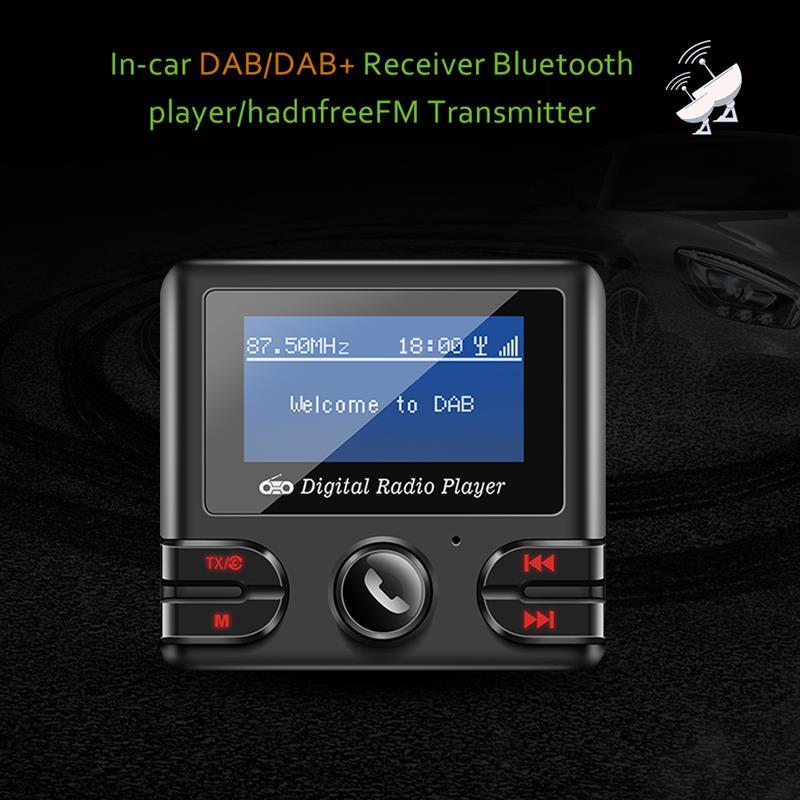 Récepteur DAB Bluetooth 4.2 FM transmetteur voiture Kit lecteur de musique modulateur double USB 2.1A chargeur Support TF avec antenne
