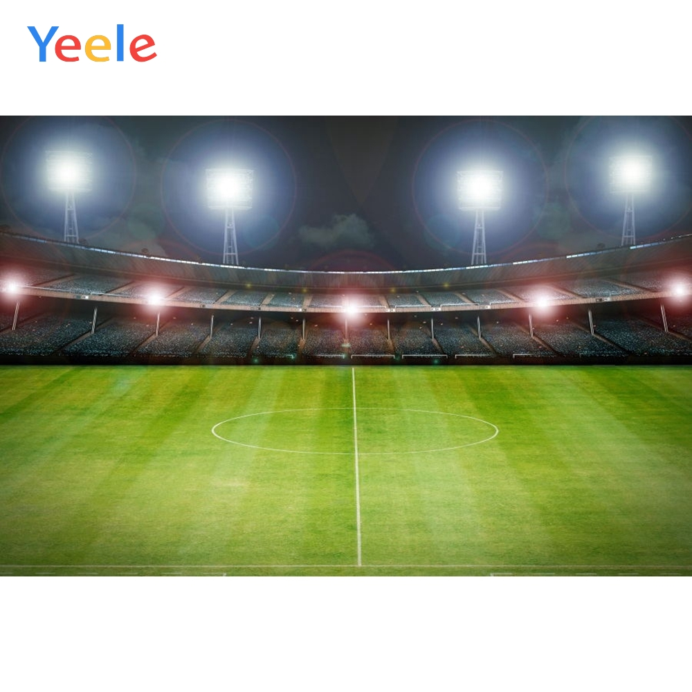Yeele Photography Backdrops Football Field Sports Glitter Custom Cloth Fabric Computer Printed Backgrounds For Photo Studio Kid in Background from Consumer Electronics