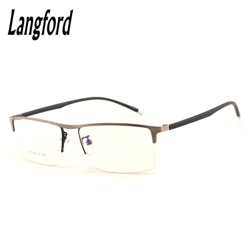 Mens brille halb rahmen tr90 brillenge optische verordnung myopie ...