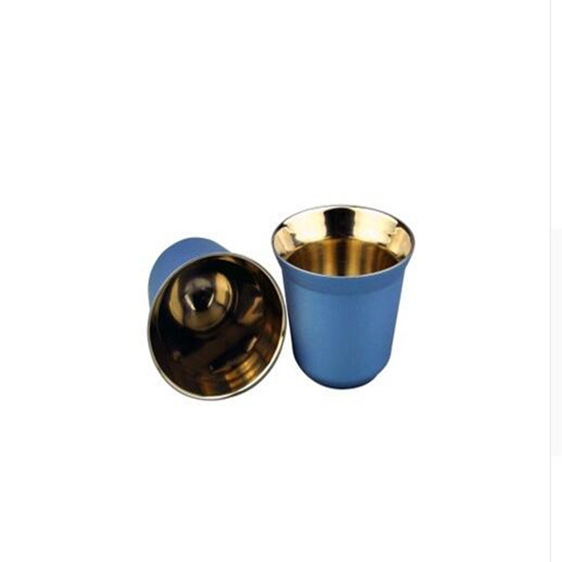 2Pcs Nespresso Concentrat Espresso Italian Stainless Steel coffee Nescafe Double Wall capsule coffee Tool coffee Sets 2019 in Coffeeware Sets from Home Garden