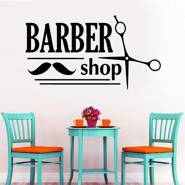 Wall Sticker Barber Shop Decor Haircuts For Men Beauty Salon