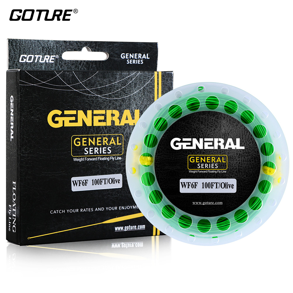 Goture 30 метраў Fly Fishing Line WF3F WF4F WF5F WF6F WF7F WF8F - Рыбная лоўля