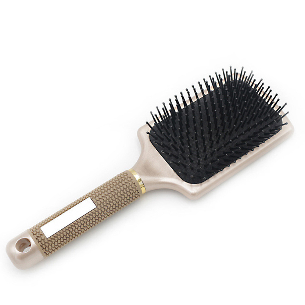 TOOLTOO Women Tools Hair Comb Professional Brush Hair Extension Handle Tangle Nylon Wide Tooth Comb Hair Scalp Massage green sandalwood combed wooden head neck mammary gland meridian lymphatic massage comb wide teeth comb