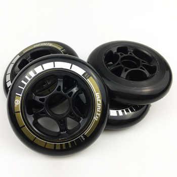 8PCS Powerslide Infinity Inline Speed Skates 85A Wheel, 90mm 100mm 110mm, Racing Skating Wheels for Bont PowerSlide Patins Shoes