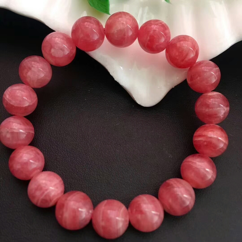 Genuine Natural Rose Ice Rhodochrosite Argentina Round Beads Bracelet 11mm Wedding Gemstone Fashion New styleAAAAA