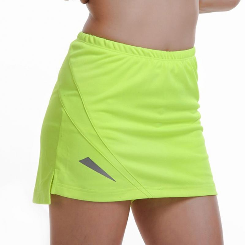Mujeres deportes profesionales gimnasio Fitness correr Yoga Jogging pantalones cortos mujeres tenis falda Anti exposición tenis falda pantalones cortos