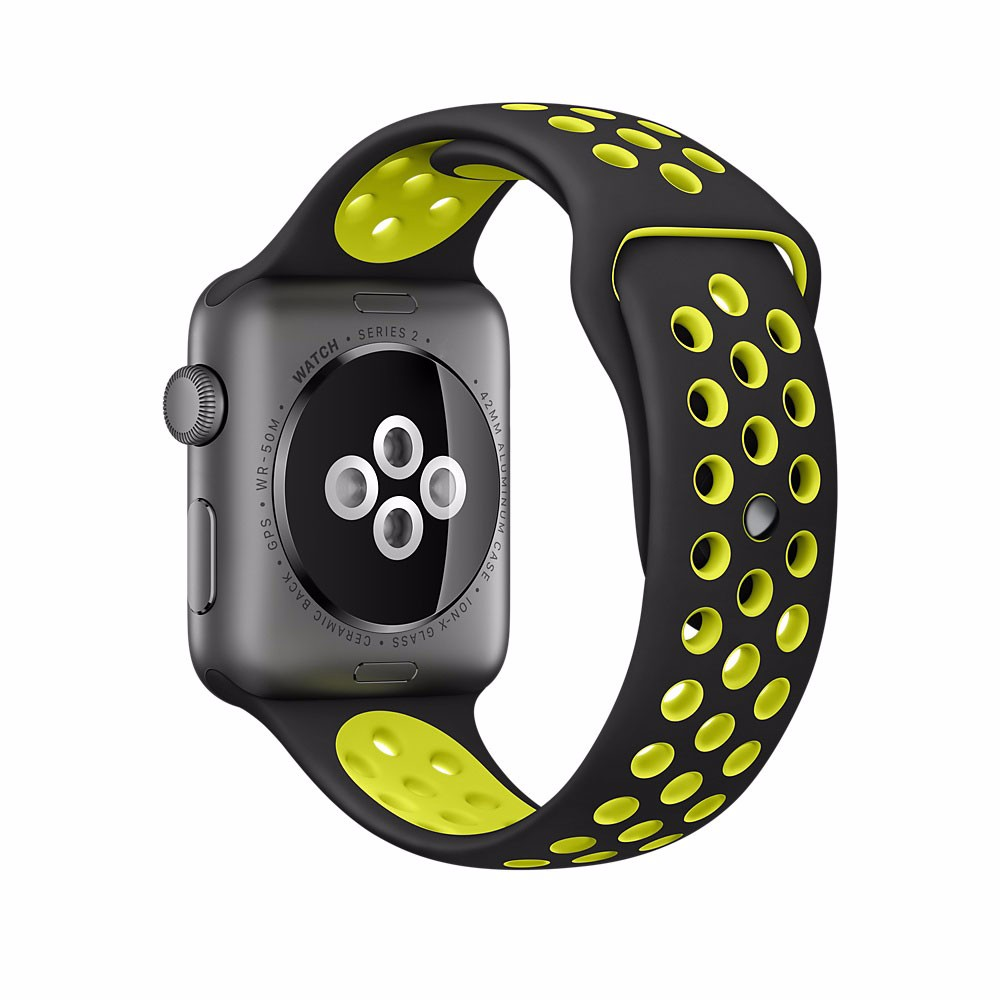 For apple watch nike Silicone Replacement Sport Band For 44 40MM Apple Watch Series 42 38MM Wrist Bracelet Strap For iWatch in Watchbands from Watches