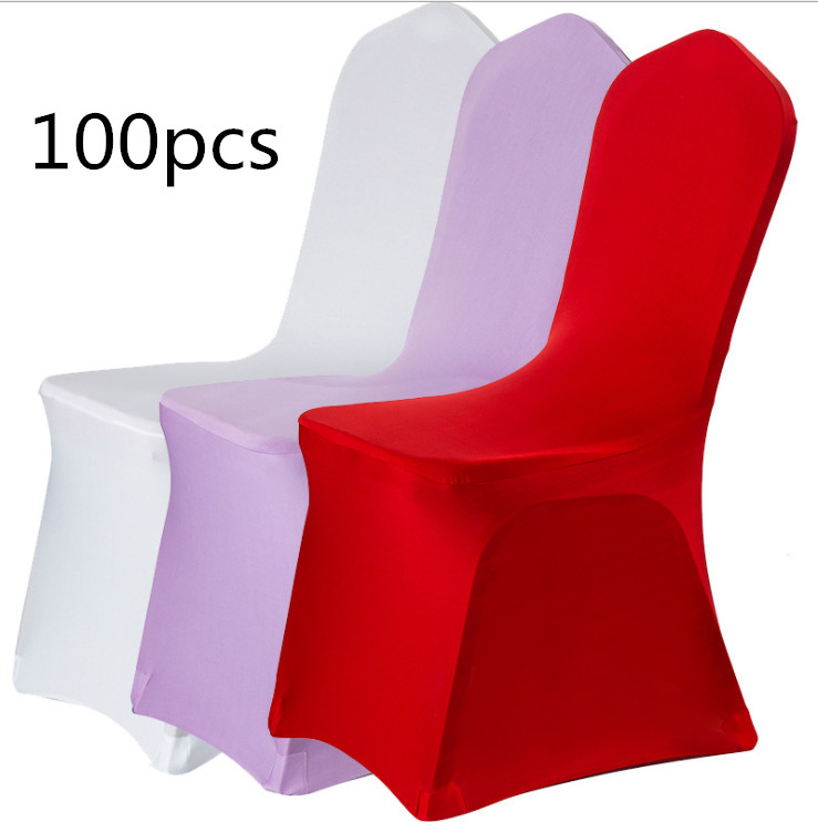 100pcs/set Hot Sell Banquet Convention Hotel Textile Supplies Chair Mat Cover Wedding Meeting Decor White Chairs Cloth Covers