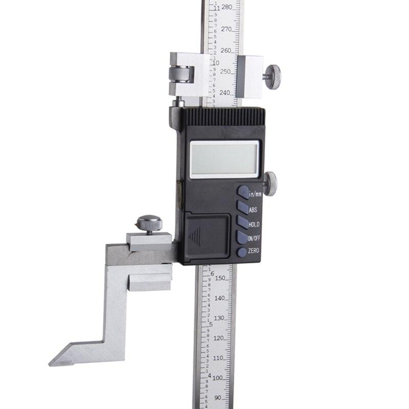 SHAN 0 300 мм прецизионный цифровой датчик высоты из нержавеющей стали Электронный штангенциркуль дюймов/мм измерительные инструменты - 4
