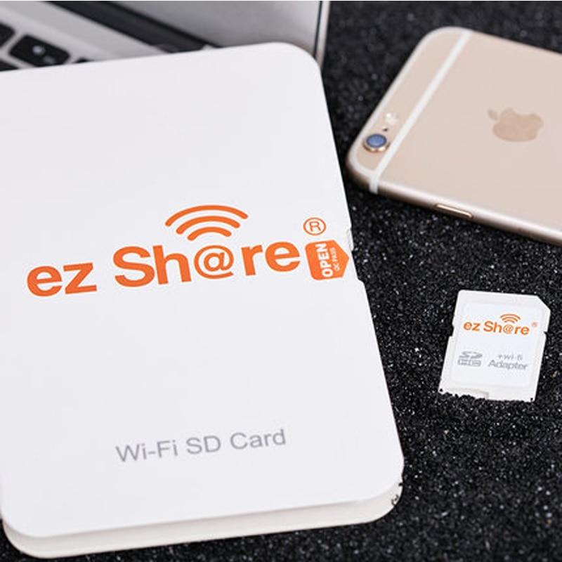 Ez Partager wifi adaptateur de carte Sd class10 sdhc Sans Fil pour Micro Sd Mémoire lecteur de cartes flash disponibles pour canon/nikon/sony DSLR - 5