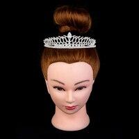 Crown Headband Wedding Hair Accessories Simple Water Droplets Design For Women Luxury BC2257 AAA Cubic Zirconia Corona Princesa