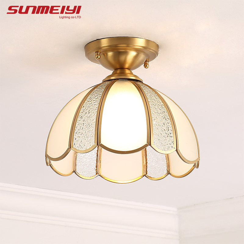 Modern LED Ceiling Lights With Glass Lampshade plafonnier led Living Room Bedroom Design Vintage Ceiling Lights Fixture new loft classical retro iron glass lampshade ceiling lamps led e27 ceiling lights plafonnier luminaire for bedroom living room
