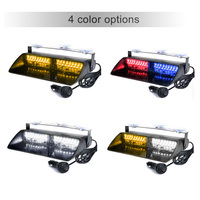 kkmoon 16 LEDs 4 colors 18 Emergency Flashing Warning Light for Car Truck Lights Flash Dash Strobe Light