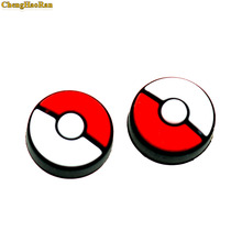 ChengHaoRan 100pcs  grips Caps For NS Nintend Switch Poke Ball Silicone Non-slip Grip Pokeball Handle Button Cap