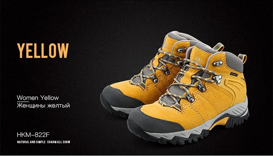 5afe8acc063c6 Clorts invierno zapatillas de deporte para hombres impermeable zapatos de  senderismo de cuero genuino transpirable antideslizante de los hombres  zapatos de ...