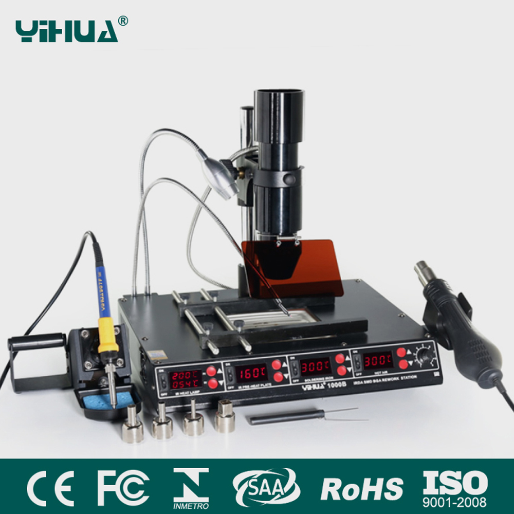 YIHUA 1000B 4 Functions in 1 Infrared Bga Rework Station SMD Hot Air Gun 540W Preheating