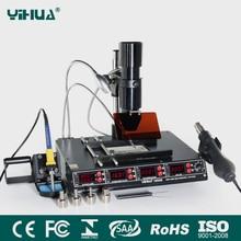 YIHUA 1000B 4 وظائف في 1 الأشعة تحت الحمراء بغا محطة إعادة العمل SMD مسدس هواء ساخن + 540 واط محطة التسخين + 75 واط لحام الحديد 110 فولت 220 فولت