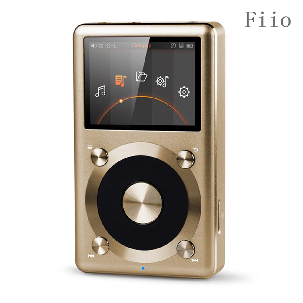 Fiio X3 2nd gen / X3 II / X3K Native DSD Decoding 192k Hz / 24bit Hifi MP3 FLAC APE ALAC Music Player HiFi mp3 player Gold