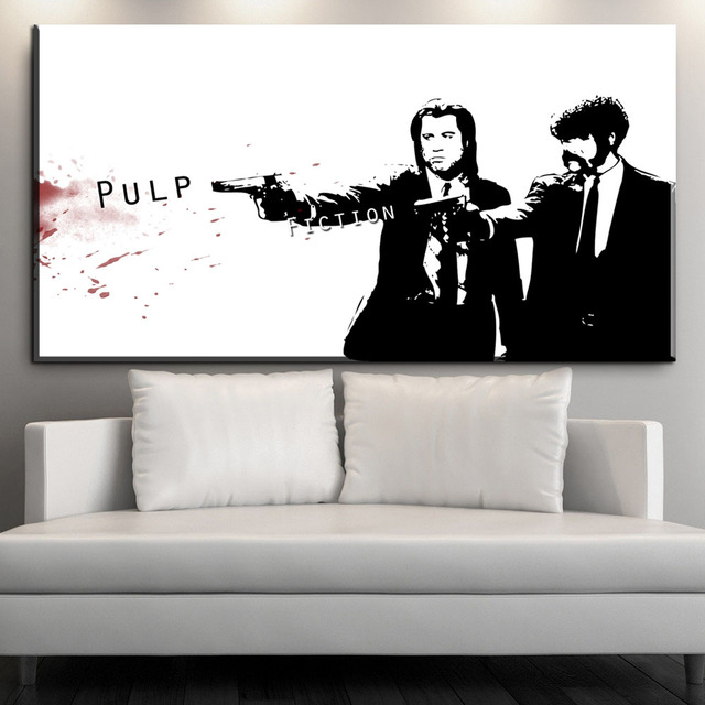ZZ660 black and white modern canvas art pulp fiction canvas pictures ...