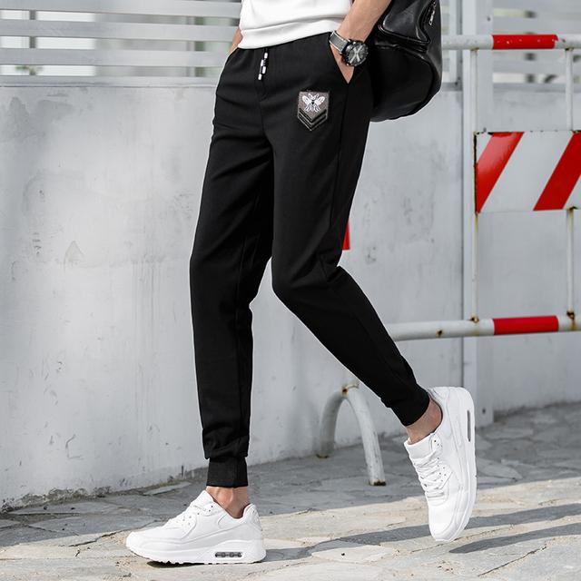 Srping & Outono Esportivos Casuais dos homens Homens Calças 2017 Plus Size Calças Temor De Deus Cordão Outwear Harem Carga calças