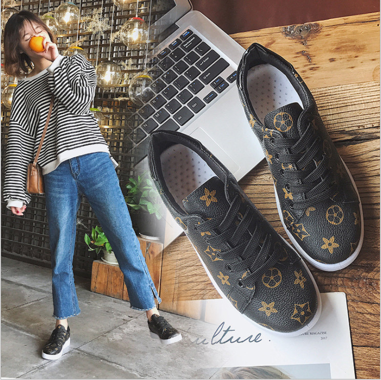 2018 Brand Designer Spring/Autumn casual leather Star shoes women sneakers Classic Brown espadrilles zapatos mujer