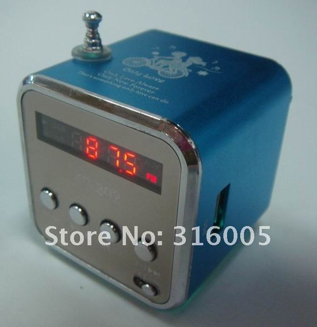 Digital portable Speaker MP3 Player Micro SD TF Card FM Radio sound box free shipping