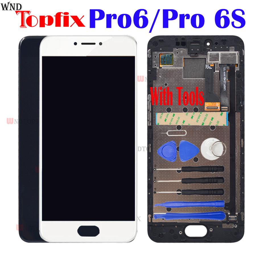 Super AMOLED 100 Tested For Meizu Pro 6S LCD Display Touch Screen Digitizer Assembly Replacement For